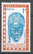 Ivory Coast 1962. Scott #J24 (M) Mask, Bingerville School Of Art - Côte D'Ivoire (1960-...)