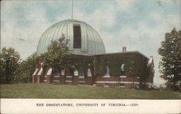 University Of Virginia Postal Cancel - Observatory 1912 Postcard - Verenigde Staten