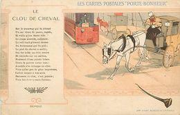 PIE 17-GAN-5667  : LES CARTES POSTALES PORTE BONHEUR.  LE CLOU DE CHEVAL. FER A CHEVAL - Cartes Postales
