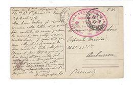 PARIS Cachet Hôpital Auxiliaire 213 , 93 Rue Michel-Ange Association Des Dames De France - Storia Postale