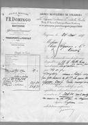 Courrier Expédition F.R. Domingo Agence Maritime Bayonne 20-08-1897 - Transport Bateau Transit ... - Frankreich