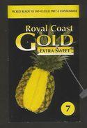# PINEAPPLE ROYAL COAST GOLD Type 1 Size 7 Fruit Tag Balise Etiqueta Anhanger Ananas Pina Costa Rica - Fruits & Vegetables