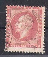 Norway 1856 King Oscar 1 8  Shilling, Mi 5  Used - Norvège