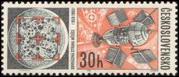 Czechoslovakia / Stamps (1966) 1558: Space Research (Moon, Lunar Probe); Painter: Jaroslav Lukavsky - Space