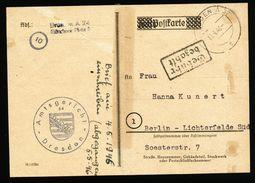 A4866) SBZ Karte Dresden A32 Mit Barfrankatur 15.4.46 - Sowjetische Zone (SBZ)