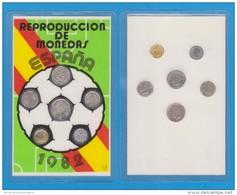 ESPAÑA  Set De Miniaturas De Monedas Del MUNDIAL DE FÚTBOL/FOOTBALL De España De 1.982 T-DL-11.405 - España