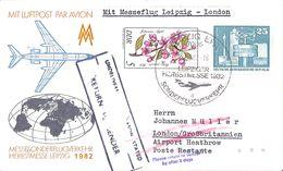 LuftpostMesseonderflug Leipzig London - Avions