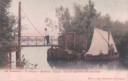 Belgique Lac Overmeire, Uytbergen, Berlare, Donck, Pont Et Barques à Voiles (709) - Berlare