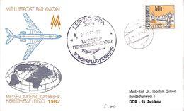 LuftpostMesseonderflug Leipzig 1982 - Avions
