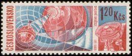 Czechoslovakia / Stamps (1966) 1562: Space Research (Telstar Satellite); Painter: Jaroslav Lukavsky - Space