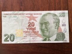 TURKEY 20 LIRASI 2009 CIRCULATED - Turchia