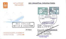 Mit Luftpost - Leipzig Paris - Avions