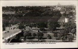 Melbourne Vic Bridge & St. Kilda Road Real Photo Postcard - Postkaarten