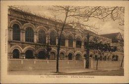 China - Tonkin Haiphong L'Ecole Saint Dominique C1915 Postcard - China
