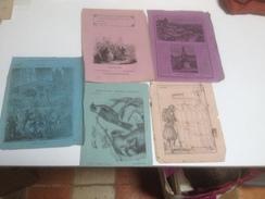 LOT De 5 Couvertures De Cahiers Anciens, Vers 1900 Et Avant - Colecciones & Series