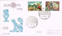 25384. Carta Certificada LA CORUÑA 1976. Artesania Textil Gallega - 1931-Hoy: 2ª República - ... Juan Carlos I