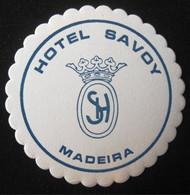 HOTEL PENSAO RESIDENCIAL ESTALAGEM POUSADA SAVOY MADEIRA DECAL STICKER LUGGAGE LABEL ETIQUETTE AUFKLEBER PORTUGAL - Etiketten Van Hotels