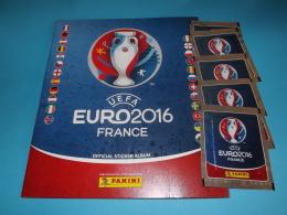 Euro 2016 France Uefa,album Vuoto+5 Bustine Con Figurine Panini - Panini