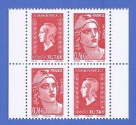 FRANCE PAIRE DOUBLE 4991 + 4992 NEUFS ** ISSUE DU CARNET N°1522 MARIANNE DE LA LIBERATION DULAC + GANDON - France