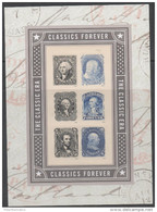 USA, 2016, MNH, STAMP ON STAMP, CLASSIC STAMPS, LINCOLN, WASHINGTON,  SHEETLET - Stamps On Stamps