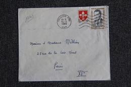 Enveloppe Timbrée De TOULON à PARIS - 1921-1960: Période Moderne