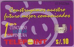 Télécarte Pérou °° Concurso Escolar Pintura - V Salas - Pérou