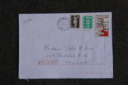 Enveloppe Timbrée D'ANGERS à TOULON - Marcophilie (Lettres)
