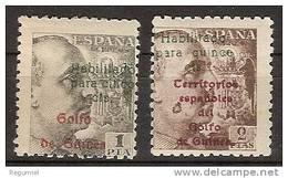 Guinea 273/74 ** Franco. Habilitados - Guinea Espagnole
