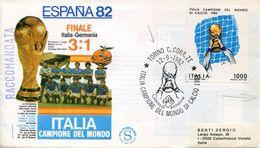 24539 Italia, Registered Fdc 1982 Torino, Italy World Winner Of The World Football Espana 1982 - 1982 – Spain