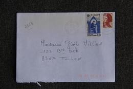 Enveloppe Timbrée De VANVES à TOULON ( 2358) - Marcophilie (Lettres)