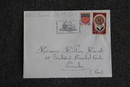 Enveloppe Timbrée De TOULON à TOULON ( YT - 64/1430 ) - Marcophilie (Lettres)