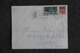 Enveloppe Timbrée De PARIS à TOULON ( YT - 64/1406 ) - Marcophilie (Lettres)