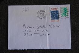 Enveloppe Timbrée De VANVES à TOULON ( YT - 86/2410 ) - Marcophilie (Lettres)