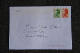 Enveloppe Timbrée De VANVES à TOULON ( YT - 2432 ) - Marcophilie (Lettres)