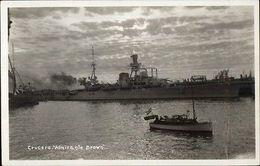 Spanish Naval Ship Crucero Almirante Brown Real Photo Postcard - Boten