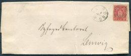 1873 Denmark 4sk Official Entire Viborg - Lemvig, JYDSKE Railway - 1864-04 (Christian IX)