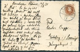 1931 Denmark Bornholm Ronne Postcad - Goteborg, Sweden - Covers & Documents