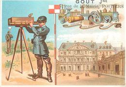 GOUT Jne  - 7 Rue De La Mairie à Poitiers ,lot De 6 Chromos (format 6,4x10,3cm) - Autres