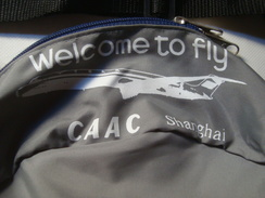 CAAC SHANGHAI BELLY BAG. WELCOME TO FLY - 80s. MERCHANDISING. 23 CM. MINT CONDITION. - Sonstige