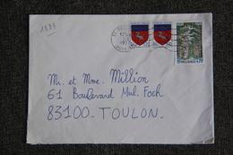 Enveloppe Timbrée De CESSENON à TOULON ( YT - 1888) - Marcophilie (Lettres)