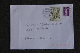 Enveloppe Timbrée D'ANGERS à TOULON ( YT - 2752 ) - Marcophilie (Lettres)