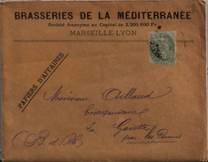 FR 1902 - 3 Factures De La Brasserie De La Méditérrannée à Mr Aillaud Entrepositaire - Timbré Daté 25.10.1902 - En TBE - - 1900 – 1949