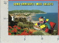 CARTOLINA VG ITALIA - ANDORA (IM) - Panorama - Sono Arrivati I Miei Saluti? - 10 X 15 - ANN. 19?? - Imperia