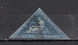 Cap Of Good Hope   Papier Azuré YT N°2  4p Bleu - South Africa (...-1961)