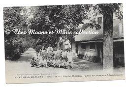 CAMP DE CHALONS - INTERIEUR HOPITAL - ALLEE DES SERVICES ADMINISTRIFS - MARNE - CPA - CARTE POSTALE ANCIENNE MILITAIRE - Camp De Châlons - Mourmelon