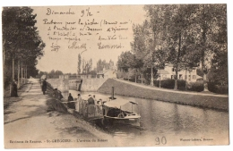CPA 35 - SAINT GREGOIRE (Ille Et Vilaine) - L'arrivée Du Bateau (petite Animation) - Environs De Rennes - Dos Non Divisé - France