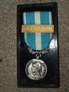Médaille D'Outre-Mer Avec 1 Barette / Agrafe: TCHAD Dans Son écrin - France