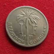 Congo Belgish 1 Franc 1921 Belgian - 1885-1909: Leopold II
