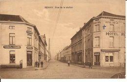 RONSE TWEE HOTELS RUE DE LA STATION 1936 Stempel Naar Dld  1149/d2 - Renaix - Ronse