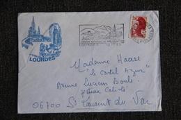 Enveloppe Timbrée De LOURDES à ST LAURENT Du VAR. - Marcophilie (Lettres)